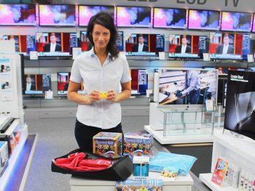 Citylauf-Tombola – Verlosung im expert Elektronikfachmarkt Neuenkirchen