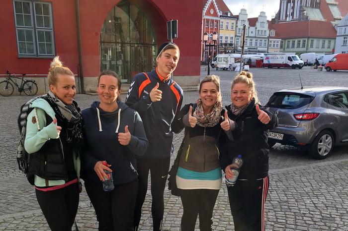 Laufteam Heinrich & Heinrich probt für den Citylauf