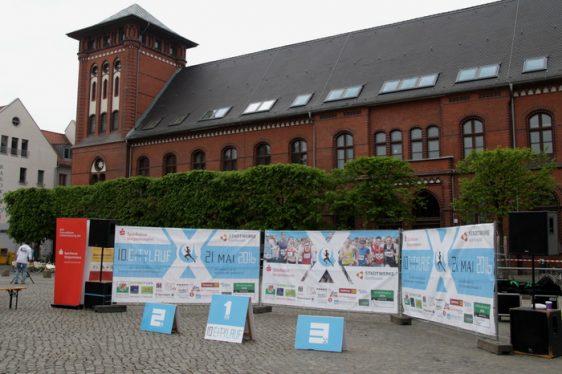 Startschuss für das Org.-Team des Greifswalder Citylaufs