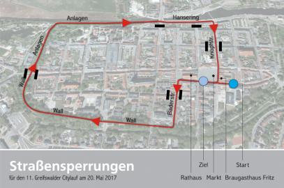 Citylauf erfordert Straßensperrungen