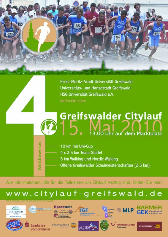 Citylauf-Flyer 2010