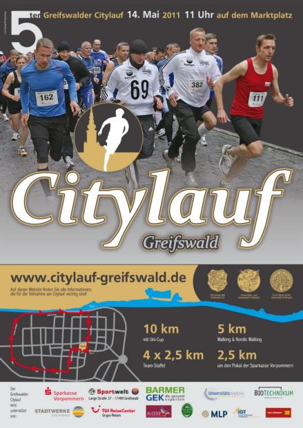 Citylauf-Plakat 2011